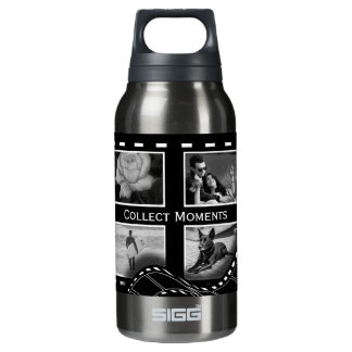 Black and White Film Reel Insulated Water Bottle