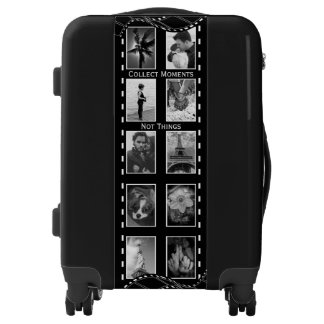 Black and White Film Reel Luggage