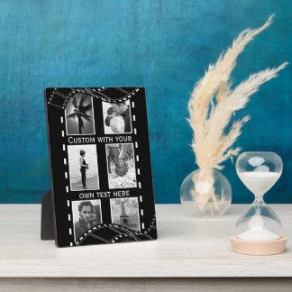 Black and White Film Reel Plaque