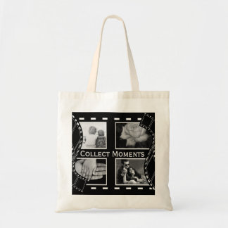 Black and White Film Reel Tote Bag