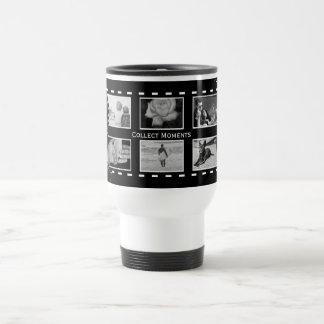 Black and White Film Reel Travel Mug