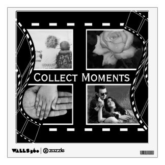 Black and White Film Reel Wall Decal