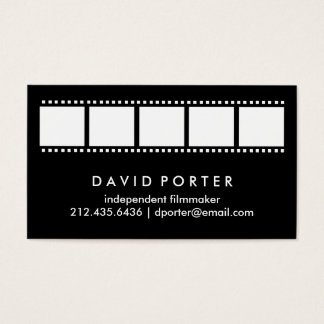 Black and White Film Strip Business Card