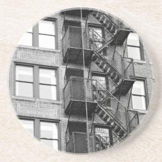 Black and White Fire Escape Coasters