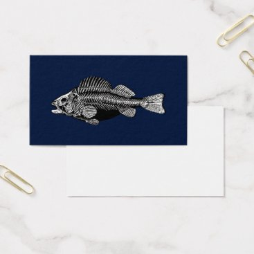 Professional Business Black and White Fish Bones Business Card