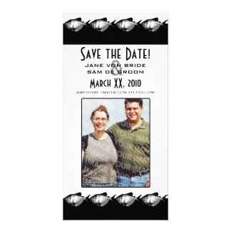 Black and White Fish Save The Date Card