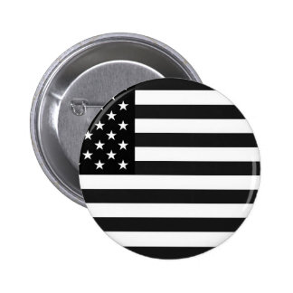 Black and White Flag of the United States Button