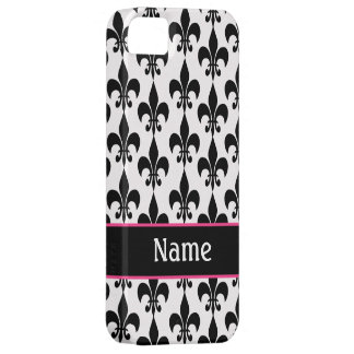 Black and White Fleur de Lis iPhone 5 Covers