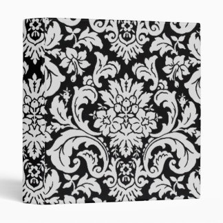 Black and White Floral 3 Ring Binder