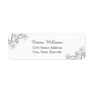Black And White Floral Address Labels