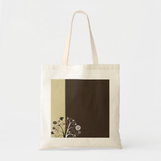 Black and white floral and butterflies bag