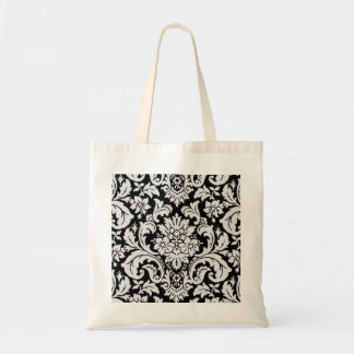 Black and White Floral Tote Bags