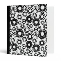 Black and white floral Binder