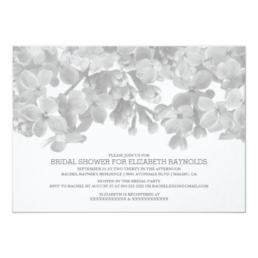 Black and white floral bridal shower invitations zazzle for Black and white bridal shower invitations