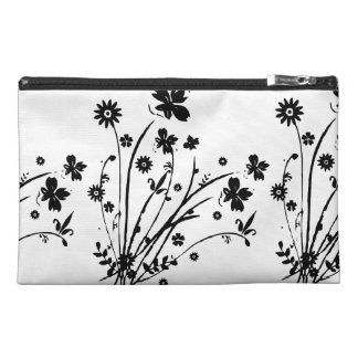 Black And White Floral Burst Travel Accessories Bag
