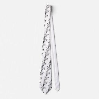 Black and White Floral Burst Neck Tie