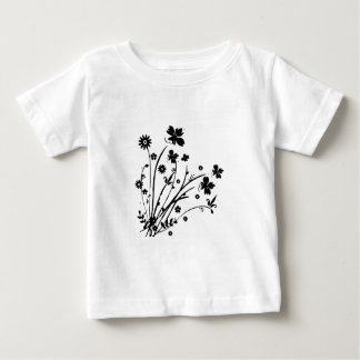 Black and White Floral Burst Shirt