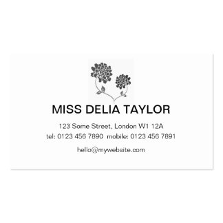Black and White Floral Cards Business Card Templates