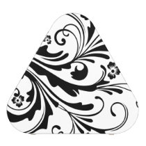 Black and White Floral Chic Speaker