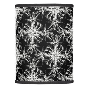 Black and white damask lamp shades zazzle black and white floral damask lamp shade aloadofball Image collections