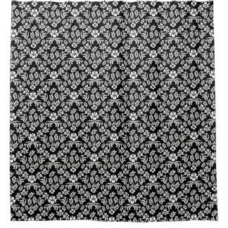 Black White Damask Shower Curtains Zazzle