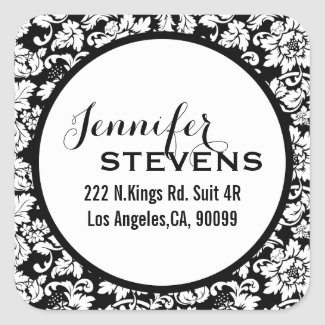 Black And White Floral Damasks