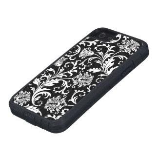 Black And White Floral Damasks Vintage Pattern iPhone SE/5/5s Case