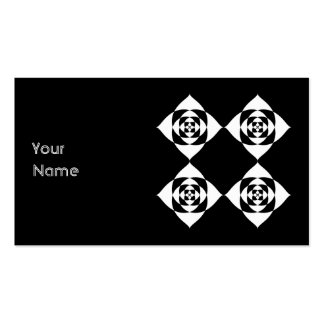 Black and White Floral Design. Business Card