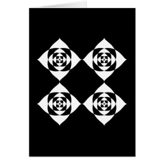 Black and White Floral Design. Card