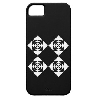 Black and White Floral Design. iPhone SE/5/5s Case