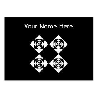 Black and White Floral Design. Large Business Card