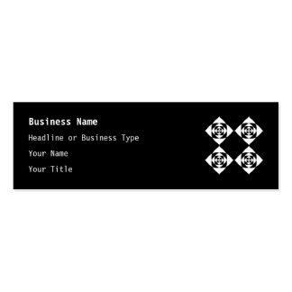 Black and White Floral Design. Mini Business Card