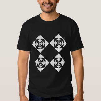 Black and White Floral Design. Tee Shirt