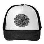 Black and White Floral Design Trucker Hat