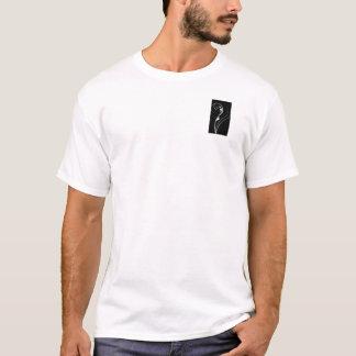Black and White Floral Elegance T-Shirt