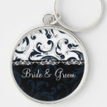 Black and White Floral Key Chains