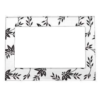 Black and White Floral Magnet Frame Magnetic Photo Frames