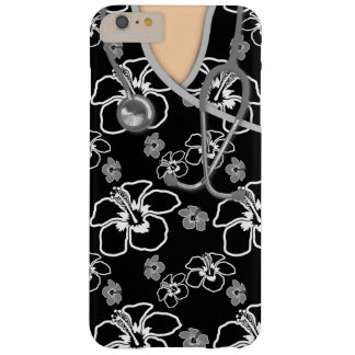 Black And White Floral Medical Scrubs Barely There iPhone 6 Plus Case
