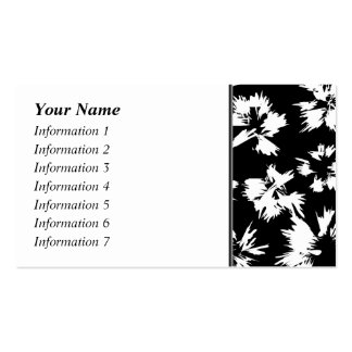 Black and white floral pattern. Double-Sided standard business cards (Pack of 100)