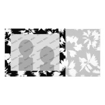 Black and white floral pattern. card
