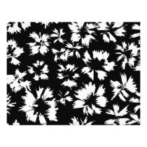 Black and white floral pattern. Funky. Flyer