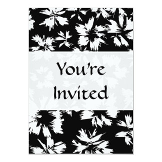 Black and white floral pattern. Funky. 5x7 Paper Invitation Card