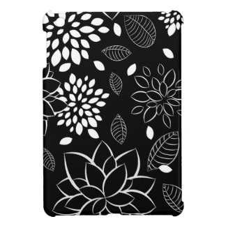 Black and White Floral Pattern iPad Mini Covers