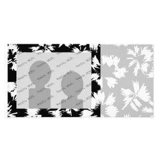 Black and white floral pattern. photo card