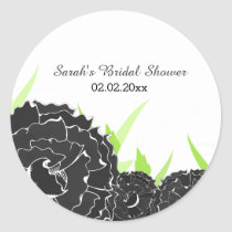 """black and white"" floral Personalized stickers"