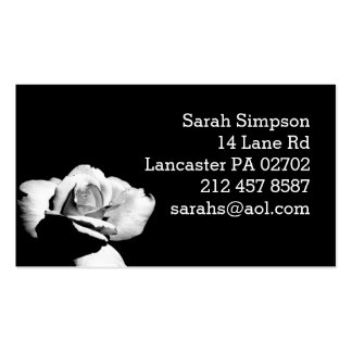 black and white floral photography business card