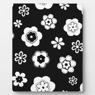 Black And White Floral Plaques