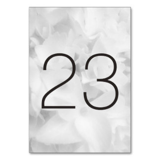Black and White Floral Table Number Cards Table Cards