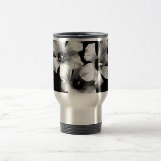 Black and White Floral travel mug