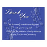 Black and White Floral Wedding Thank You Card